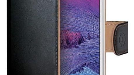 CELLY Wally pouzdro typu kniha pro Samsung Galaxy S6, PU kůže, černá - WALLY490