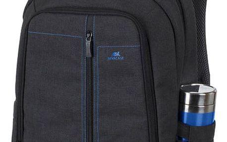 RivaCase batoh 7560, černá - RC-7560-B + Zdarma Sluchátka KNG Cyclone do uší, modrá v ceně 319 Kč