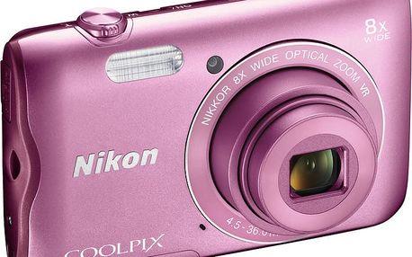 Nikon Coolpix A300, růžová - VNA962E1