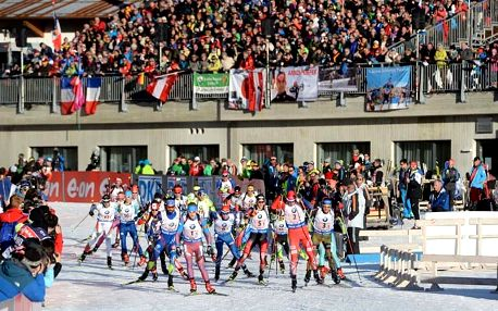 Biatlonový superVÍKEND v Rakousku (9.-10.12.): Doprava, ubytování, vstupenky na 4 závody! Podpořte Gabču a další biatlonisty