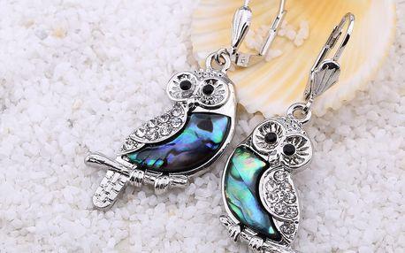 Fashion Icon Náušnice sovy s Paua perletí