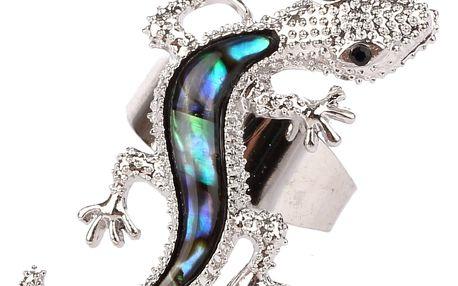 Fashion Icon Prsten ještěrka s Paua perletí