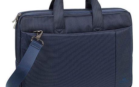 """RivaCase 8221 taška na notebook 13.3"""", modrá - RC-8221-BU + Zdarma Sluchátka KNG CYCLONE do uší, fialová (v ceně 329,-)"""