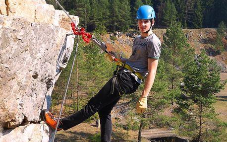 Kurz lezení via ferrata v Moravském krasu
