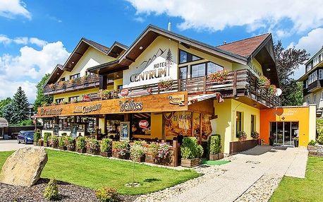 3–6denní wellness pobyt s polopenzí pro 2 v hotelu Centrum Harrachov**** v Krkonoších