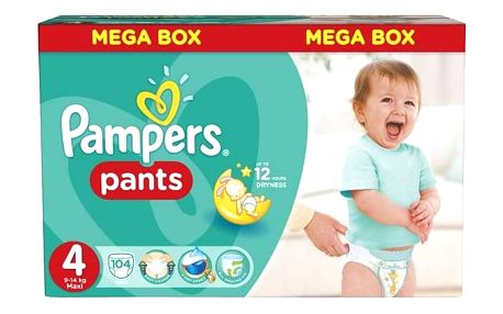 Pampers Mega Box vel. 4, 104ks