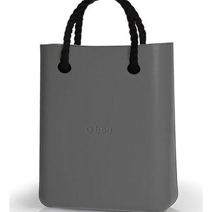 O bag kabelka O Chic Grafite s černými provazovými držadly
