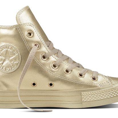 Converse zlaté dámské tenisky Chuck Taylor All Star HI Light Gold