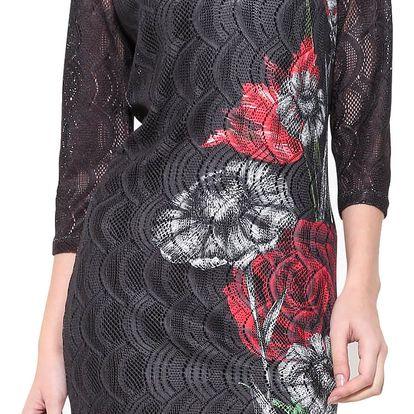 Desigual černé dámské šaty Sofia