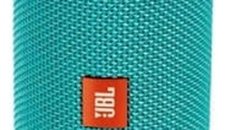 Přenosný reproduktor JBL FLIP4 (JBLFLIP4TEA) tyrkysový
