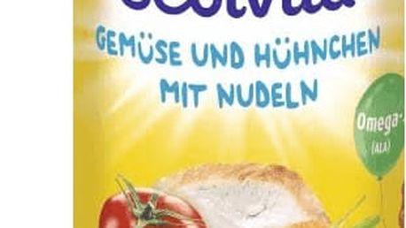 6x BEBIVITA Zelenina a kuřecí maso s nudlemi (250g) - masozeleninový příkrm