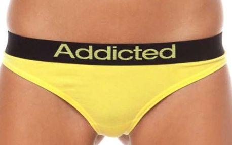 Dámská Tanga Addicted Žlutá S