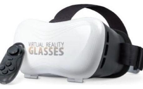 Brýle pro virtuální realitu Forever VRB-100 s ovladačem (VRB-100) bílá