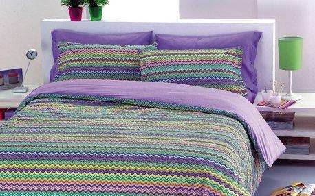 Gipetex Natural Dream Italské povlečení 100% bavlna Baia fialová