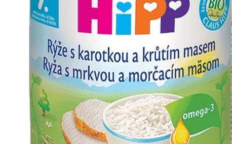 6x HIPP Rýže s karotkou a krůtím masem (220 g) - maso-zeleninový příkrm