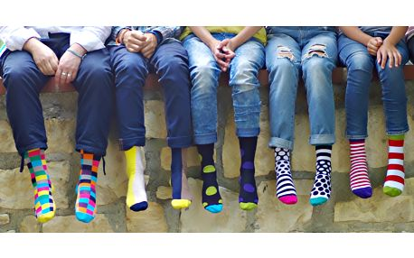 Popletené ponožky pro celou rodinu