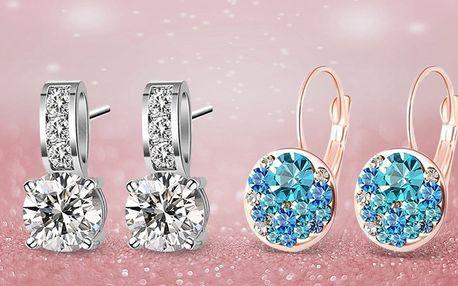 Luxusní náušnice se zirkony a krystaly Swarovski