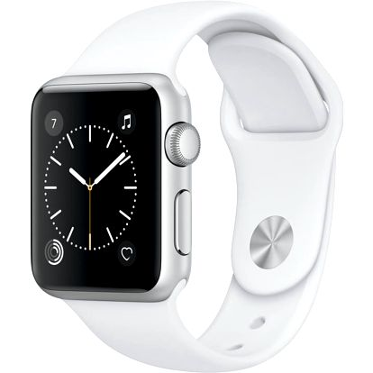 Apple Watch 38mm Silver Aluminium Case with White Sport Band - MNNG2CN/A
