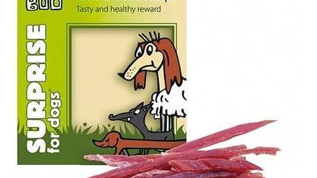 Pamlsek Huhubamboo Surprise Dog Excellent sušené kachní proužky 75g