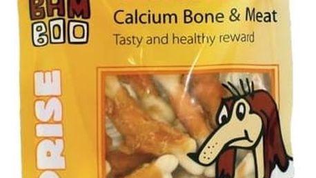 Pamlsek Huhubamboo Surprise Dog kuřecí maso na kosti s kalciem 75g