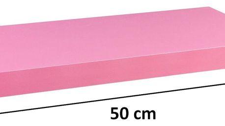 STILISTA 31043 Nástěnná police VOLATO - růžová 50 cm