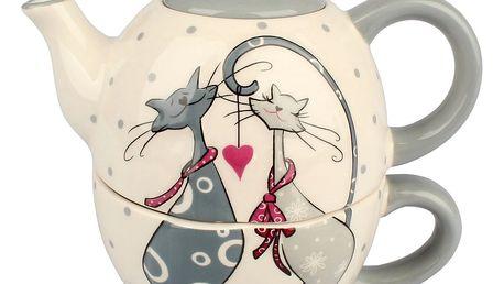 Keramický set na čaj Cats