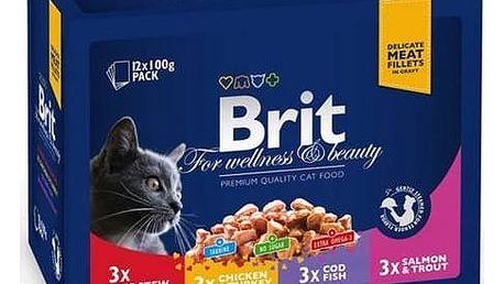 Kapsička Brit Premium Cat Family Plate 1200g (12x100g)