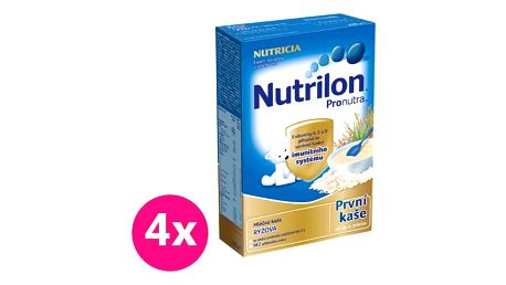 4x NUTRILON ProNutra rýžová (225 g) - mléčná kaše