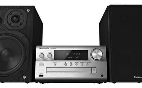 Mikrosystém Panasonic SC-PMX80EG-S (SC-PMX80EG-S) stříbrná Sluchátka Panasonic RP-HF300E-K černá