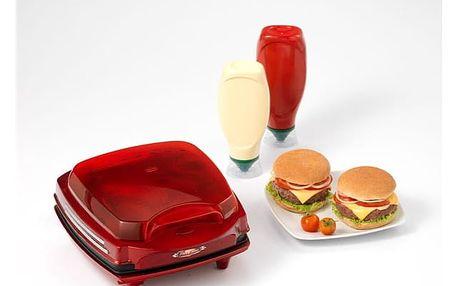 Výrobník hamburgerů Ariete Party Time ART 185 červený