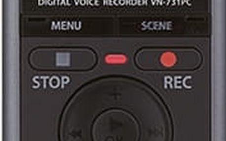Olympus diktafon VN-731PC, šedá - V405231TE000