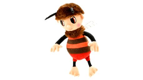 MIKRO TRADING Včelí medvídek Brumda plyšový zpívající 26 cm