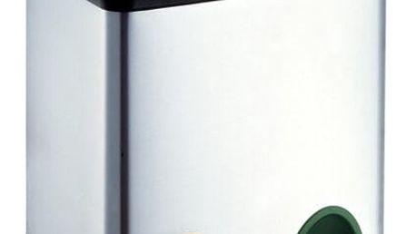 Odpadkový koš TORO 2 x 15 l černý/nerez