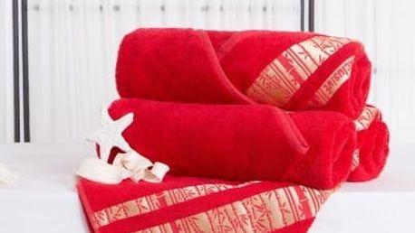 XPOSE ® Bambusová osuška MINA - červená 70x140 cm