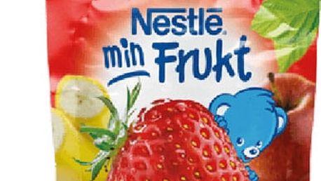 6x NESTLÉ Min Frukt Jablko Banán Jahoda (90g) – ovocná kapsička