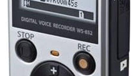 Diktafon Olympus WS-852 (V415121SE000) stříbrný + Doprava zdarma