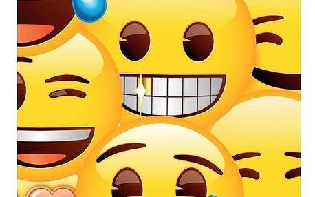 Jerry Fabrics Osuška Emoji, 70 x 140 cm