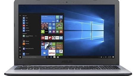 Notebook Asus F542UQ-DM178T (F542UQ-DM178T) šedý Software Microsoft Office 365 pro jednotlivce CZ + Software F-Secure SAFE, 3 zařízení / 6 měsíců + Monitorovací software Pinya Guard - licence na 6 měsíců v hodnotě 2 278 Kč + DOPRAVA ZDARMA