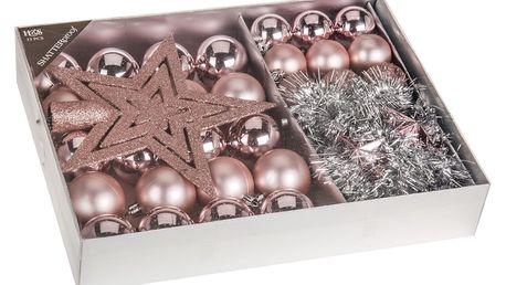 Vánoční ozdobný set Luxury Pink