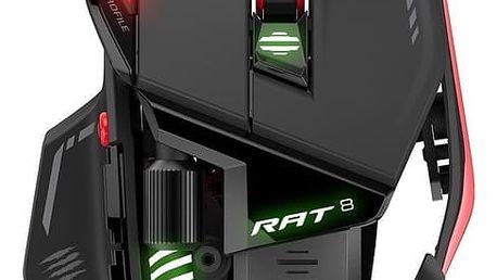 Mad Catz R.A.T. 8, černá - MCB4373300A3/04/1 + Podložka pod myš CZC G-Vision Dark v ceně 199,-