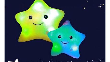 Svítící polštářek Hvězdička