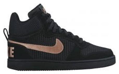 Dámské tenisky Nike W COURT BOROUGH MID PREM 40 BLACK/MTLC RED BRONZE-BLACK