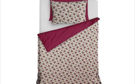 Homeville Povlečení 100% bavlna Romance fialová se dvěma povlaky na polštář