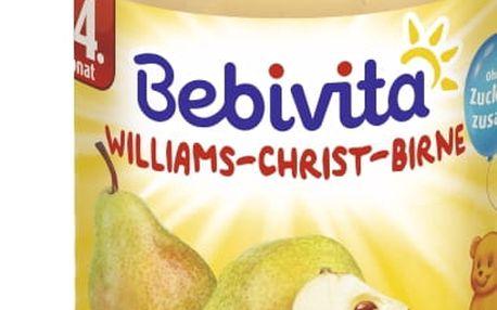 6x BEBIVITA Hruškový Williams-Christ (190g) - ovocný příkrm