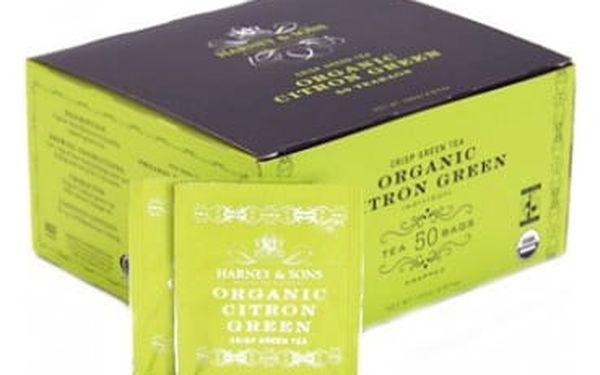 BIO zelený čaj s citronem Harney & Sons 50 sáčků