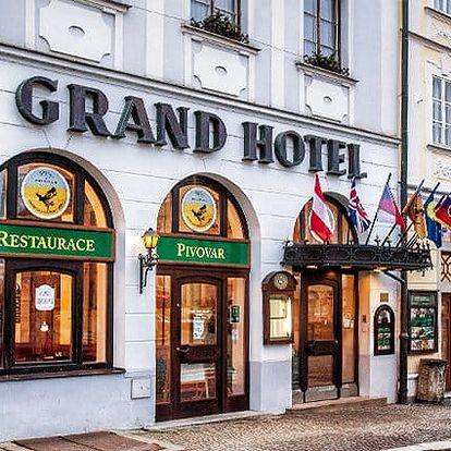 3–4denní pobyt pro 2 s polopenzí v Grand Hotelu Černý Orel*** v Jindřichově Hradci