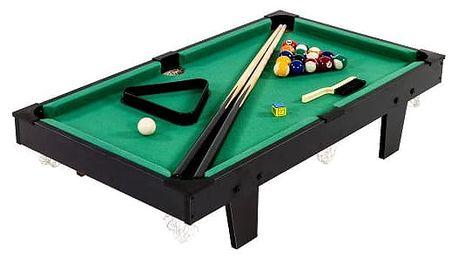 Tuin 11760 Mini kulečník pool s příslušenstvím 92 x 52 x 19 cm - černá
