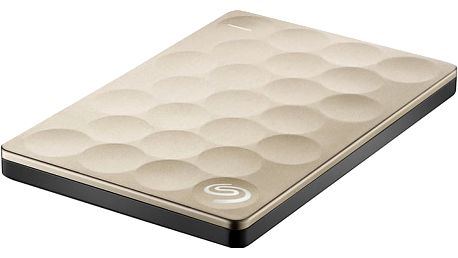 Seagate Backup Plus Ultra Slim 1TB, zlatá - STEH1000201