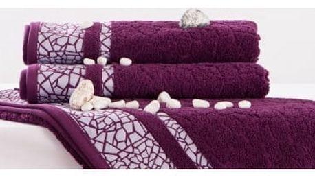 Night in Colors Froté ručník KRÉTA - fialová 50x100 cm