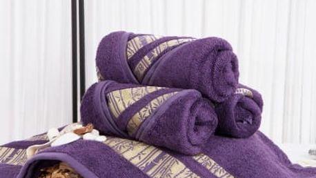 XPOSE ® Bambusový ručník MINA - fialová 50x90 cm